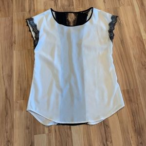 Express silk and lace top